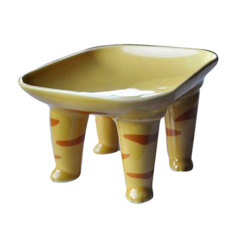 陶瓷寵物腳腳碗 橘虎貓,bd_新品_20210429,bd_熱銷餐碗