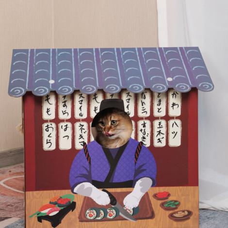 喵吾郎日式居酒屋貓屋(53*7*59公分)(貓抓板),CSS_新品,bd_新品_20210415,CSS_買貓抓板_送NPIC試吃包
