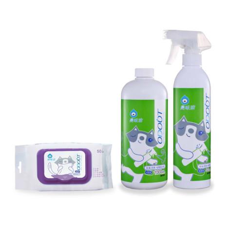 貓用【淨味新手包】除臭噴霧+補充瓶+濕紙巾,CSS_388折30