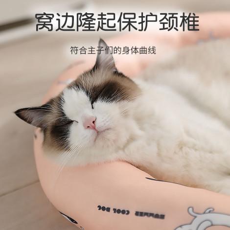 冰絲墊子圓形冰窩 白小狗(60公分),bd_新品,CSS_新品,bd_新品_20210629