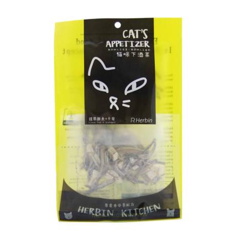 (即期)貓咪下酒菜 銀帶鯡魚+干貝15克(貓零食) (效期2021.10.16),bd_即期飼料,CSS_出清