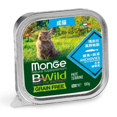 真野無穀 貓餐盒100克【鯷魚+蔬菜】(32入)(貓主食餐盒)
