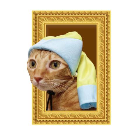 名畫寵物帽 戴珍珠耳環的少女帽(頭圍31公分),CSS_新品,bd_新品_20210915