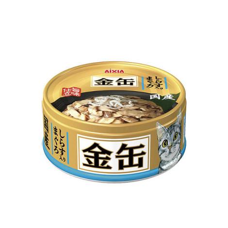 金缶 70克【#36鮪魚+吻仔魚】(1入) (貓副食餐罐),age:全齡,flavor:魚,firstIngredient:魚鮮肉,金缶,金罐