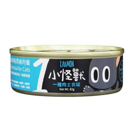 貓1肉主食罐82克【黑豬肉】(24入)(貓主食罐頭)(整箱罐罐),bd_一種肉主食罐