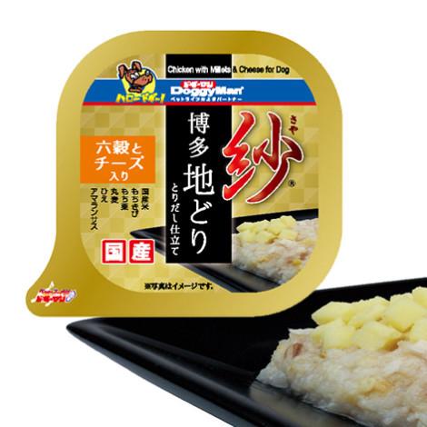 紗餐盒-日本博多放牧雞 六種穀物 100克 起士(6入) (狗副食罐頭),package:盒,flavor:雞,firstIngredient:雞鮮肉