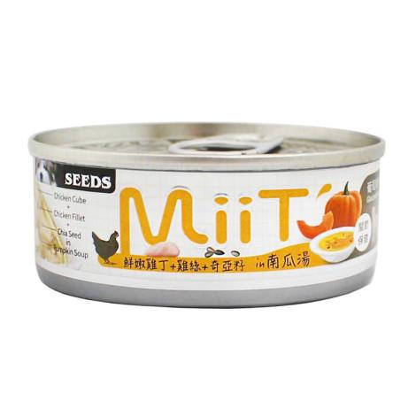 MIIT80克【鮮嫩雞丁南瓜湯佐雞絲奇亞籽】(24入)(狗副食罐頭)(整箱罐罐),bd_新品,CSS_新品